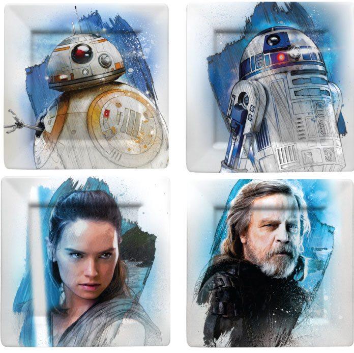 Star Wars Episode VIII Plates 4-Pack The Resistance