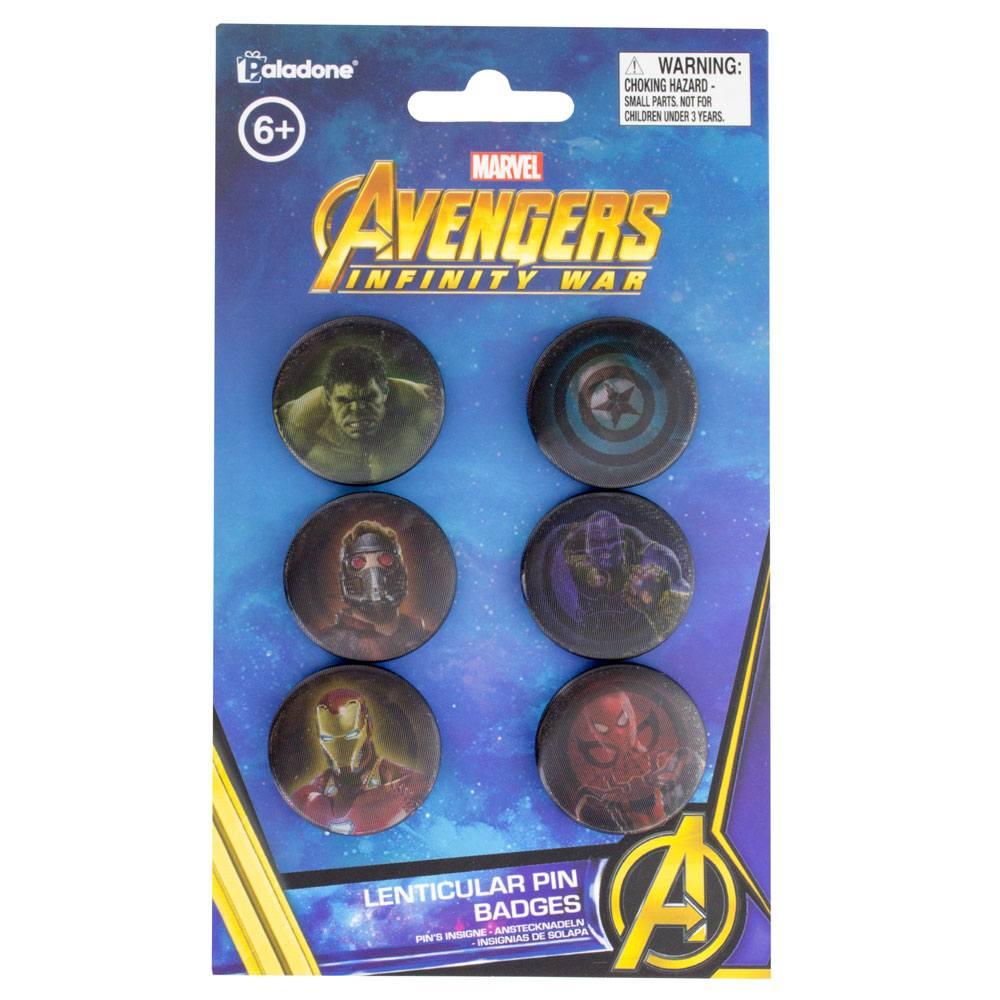 Avengers Infinity War Lenticular Pin Badges 6-Pack