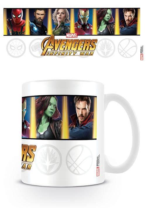 Avengers Infinity War Mug Characters & Emblems