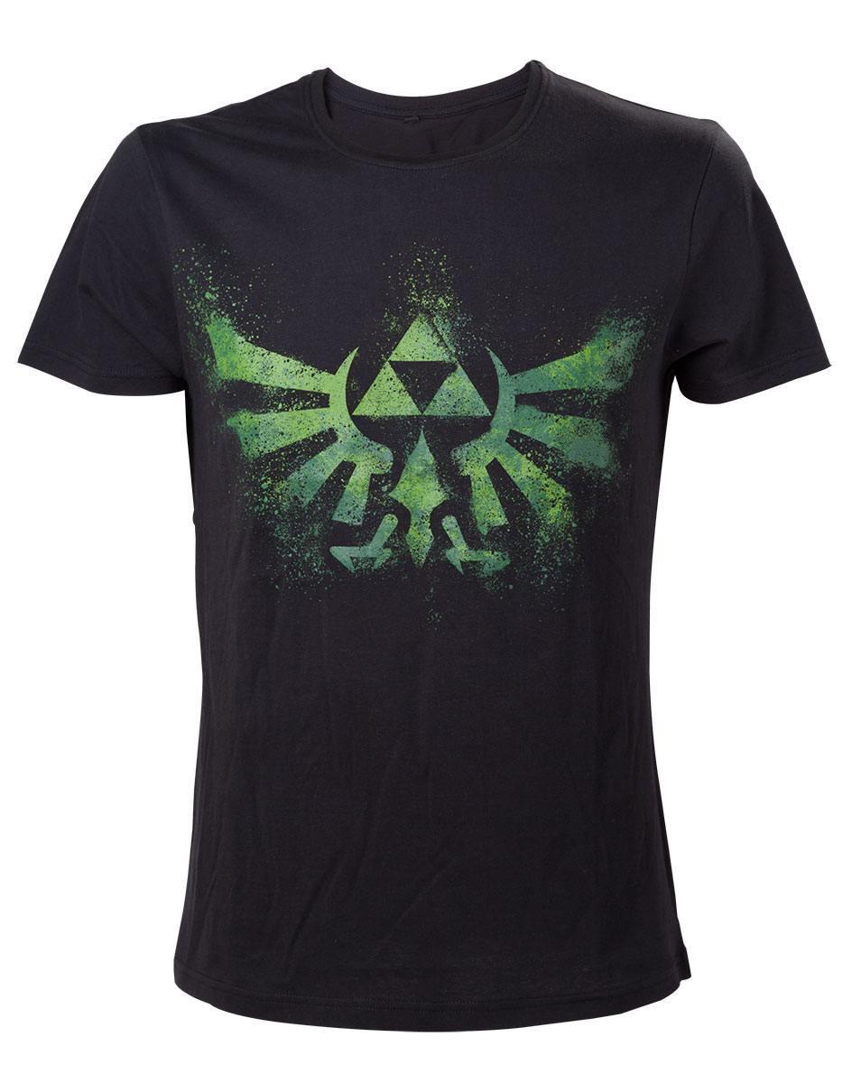 The Legend of Zelda T-Shirt Green Zelda Logo Size S