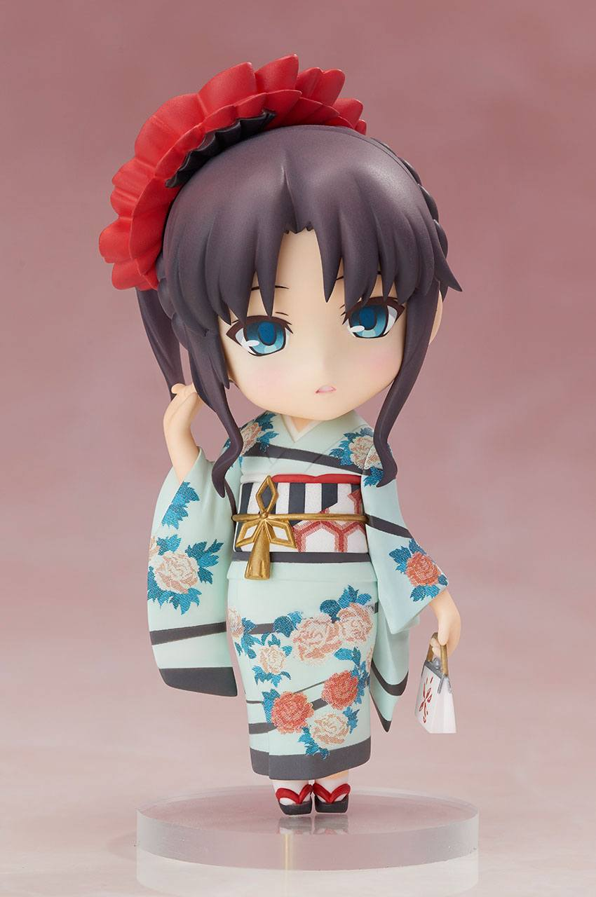Fate/ Stay Night Chara Forme PVC Statue Rin Tohsaka Kimono Version 10 cm