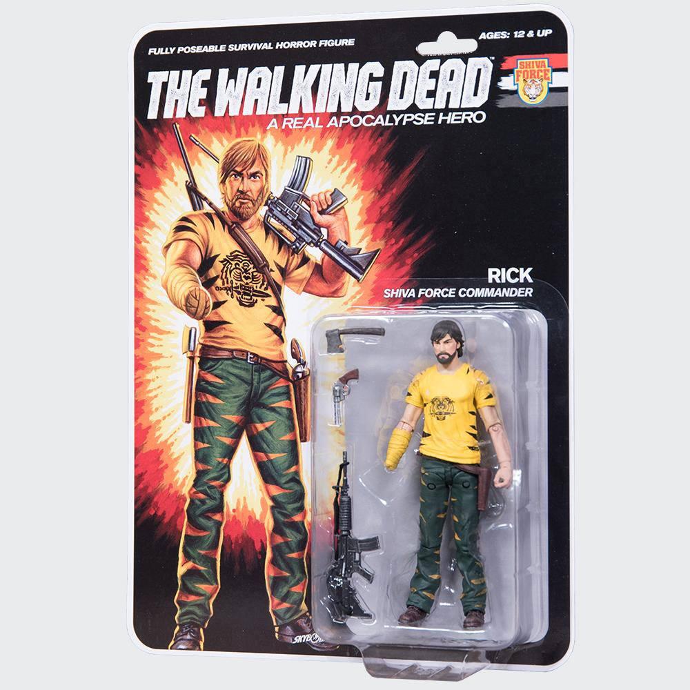 The Walking Dead Action Figure Shiva Force Commander Rick (Color) 13 cm