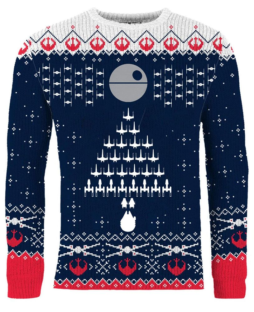 Star Wars Knitted Sweater XMAS Tree Formation Size XL