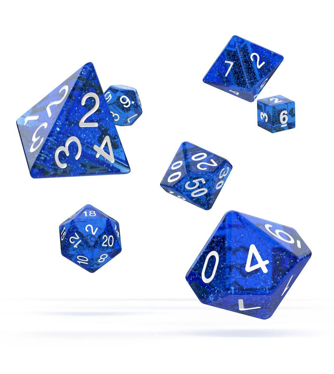 Oakie Doakie Dice RPG Set Speckled - Blue (7)