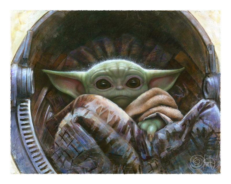 Star Wars The Mandalorian Art Print The Child 51 x 41 cm - unframed