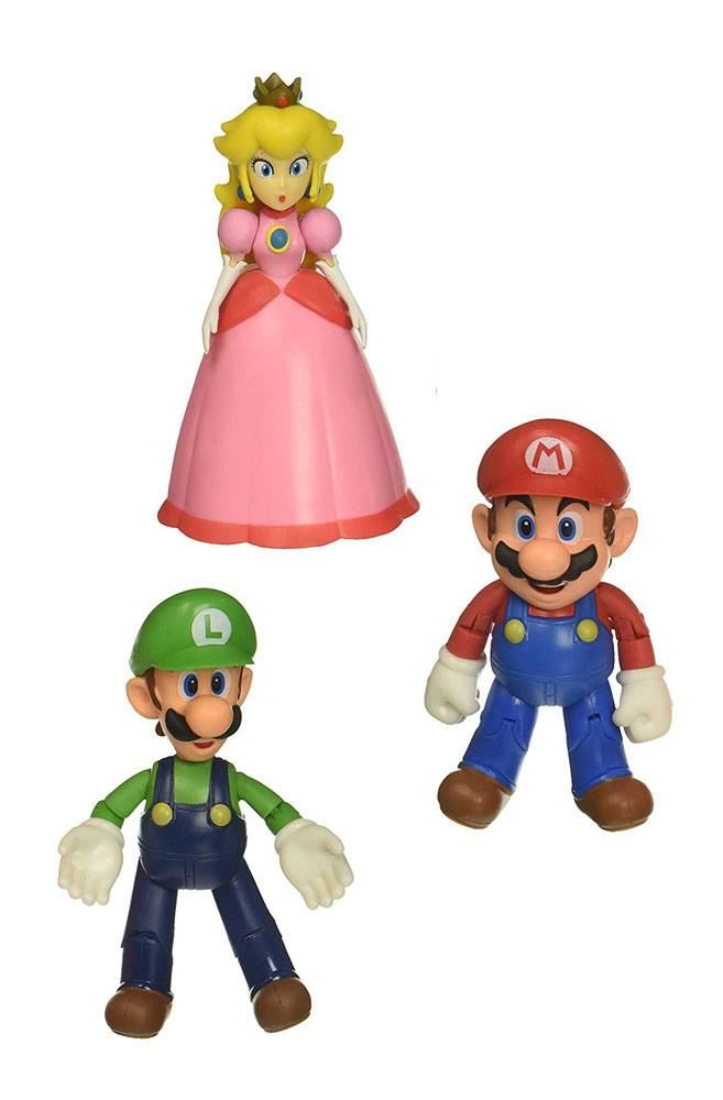 World of Nintendo Action Figure 3-Pack Mushroom Kingdom 10 cm