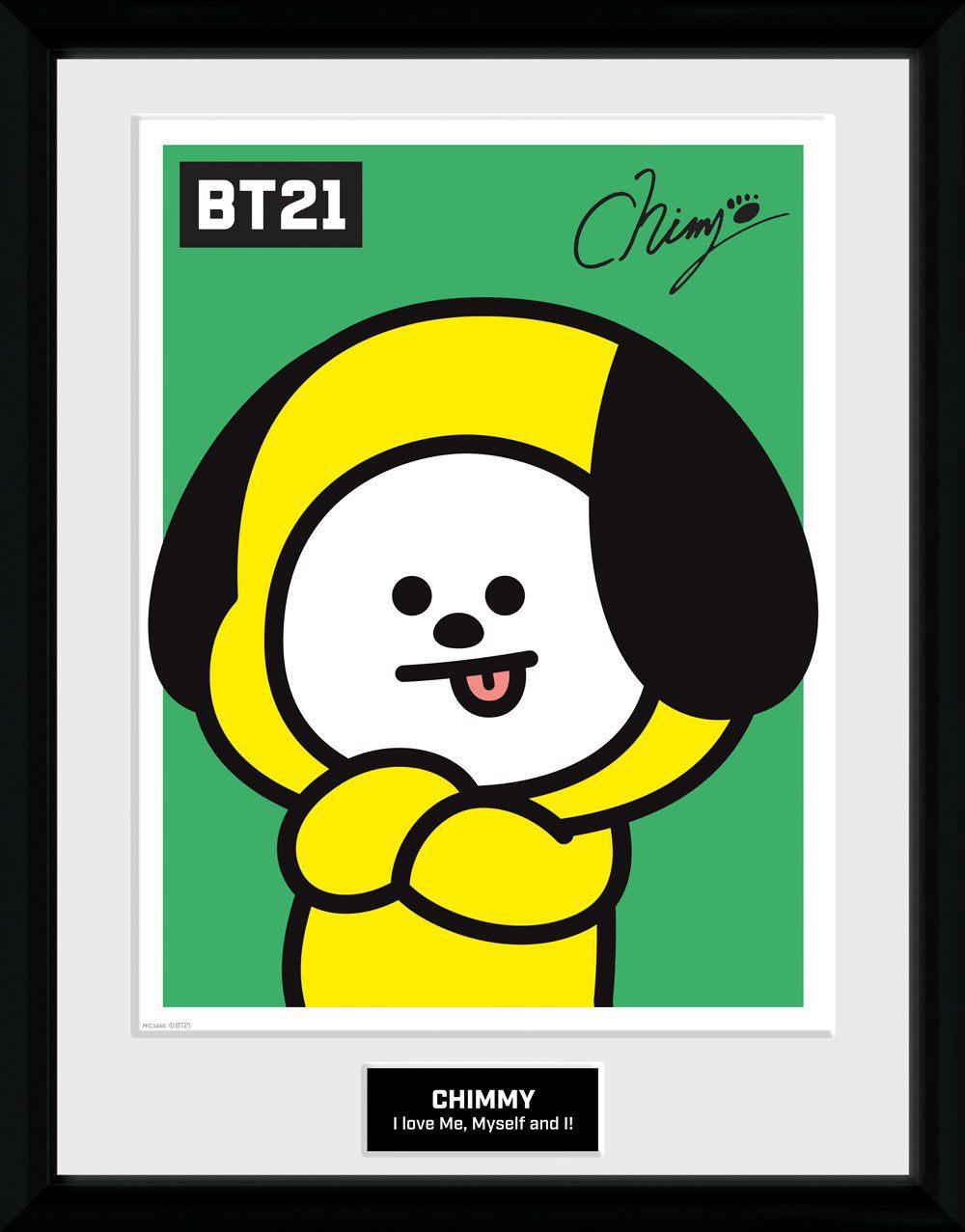 BT21 Framed Poster Chimmy