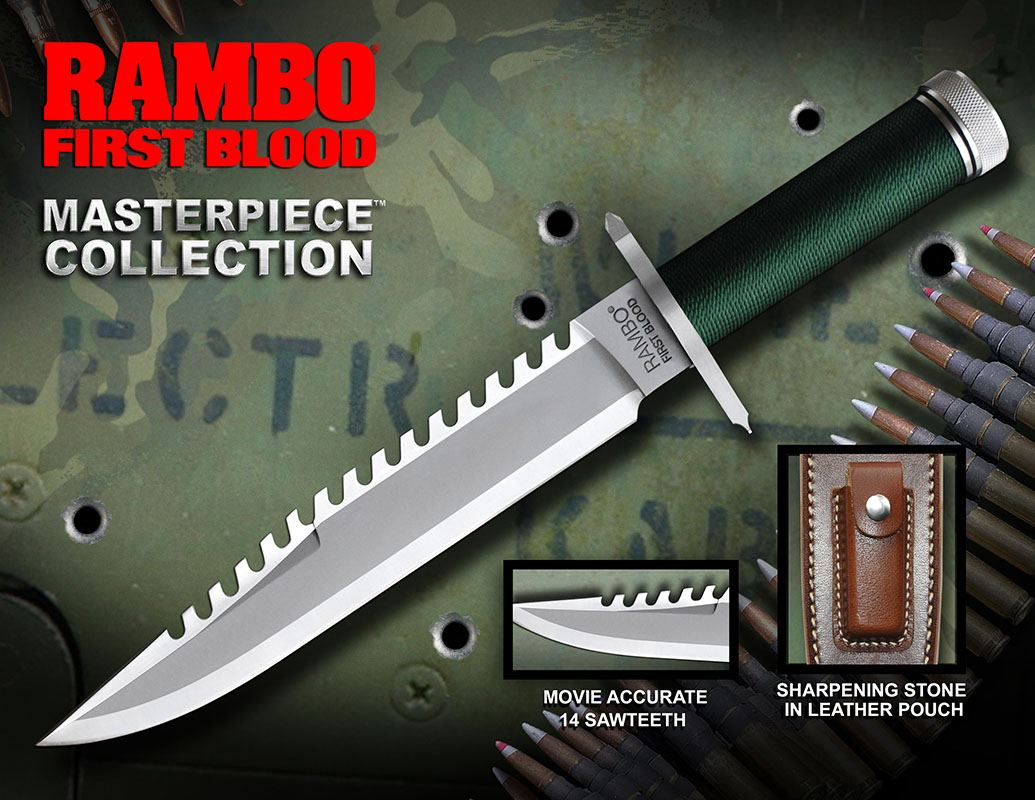 First Blood Replica 1/1 Knife Masterpiece Collection Standard Edition 36 cm