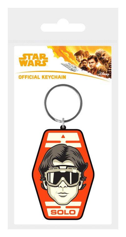 Star Wars Solo Rubber Keychain Solo Badge 6 cm