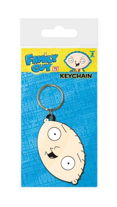 Family Guy Rubber Keychain Stewie Face 6 cm
