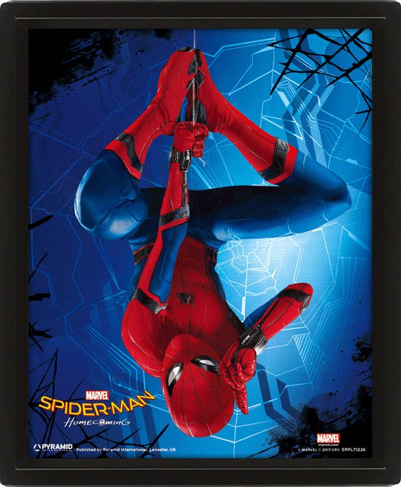 Spider-Man Homecoming Framed 3D Effect Poster Pack Hang 26 x 20 cm (3)