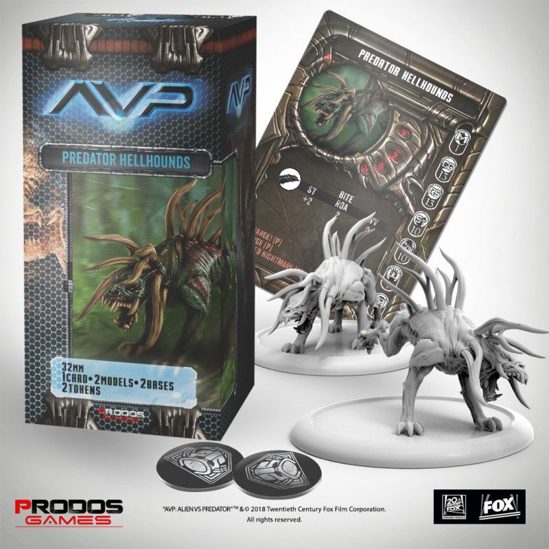 AvP Tabletop Game The Hunt Begins Expansion Pack Predator Hellhounds
