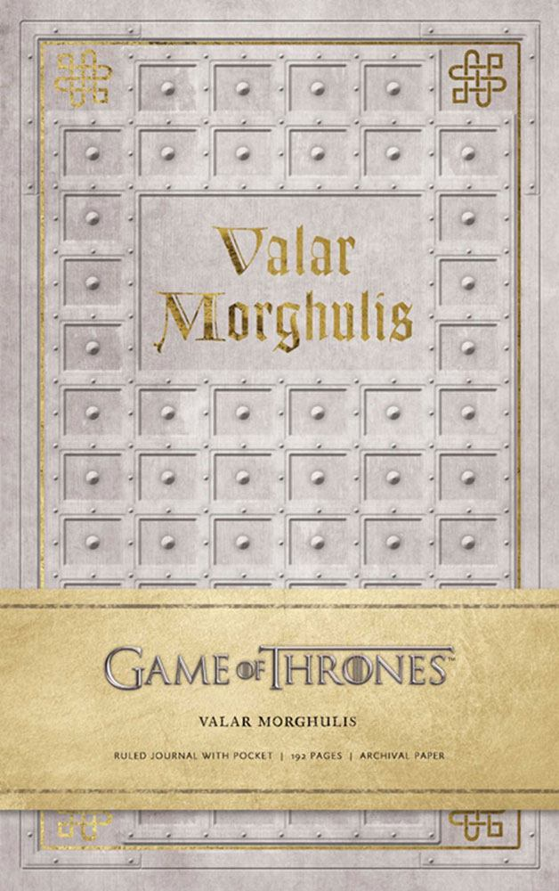 Game of Thrones Hardcover Ruled Journal Valar Morghulis