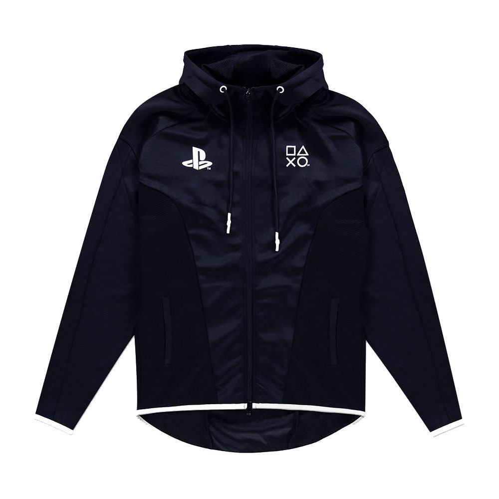 Sony PlayStation Hooded Sweater Black & White Teq Size L