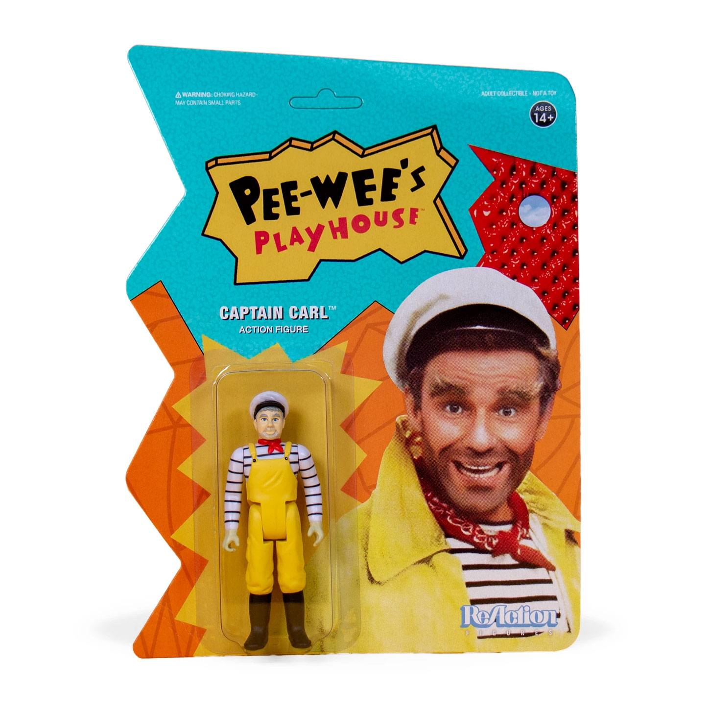 Pee-wee's Playhouse ReAction Action Figure Captain Carl 10 cm