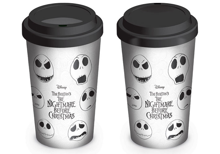 Nightmare before Christmas Travel Mug Faces of Jack