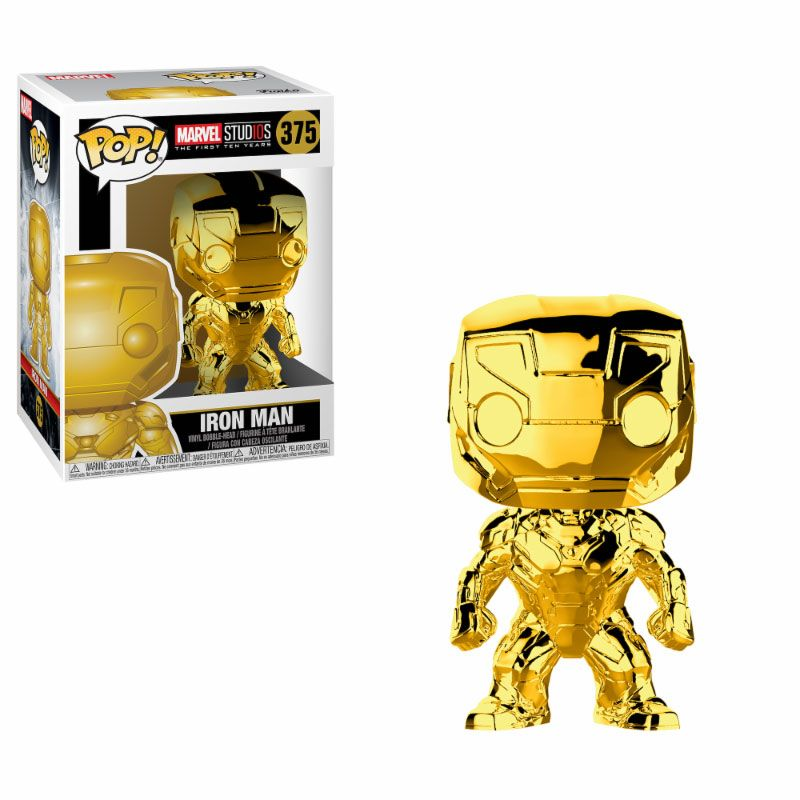 Marvel Studios 10 POP! Marvel Vinyl Figure Iron Man (Chrome) 9 cm