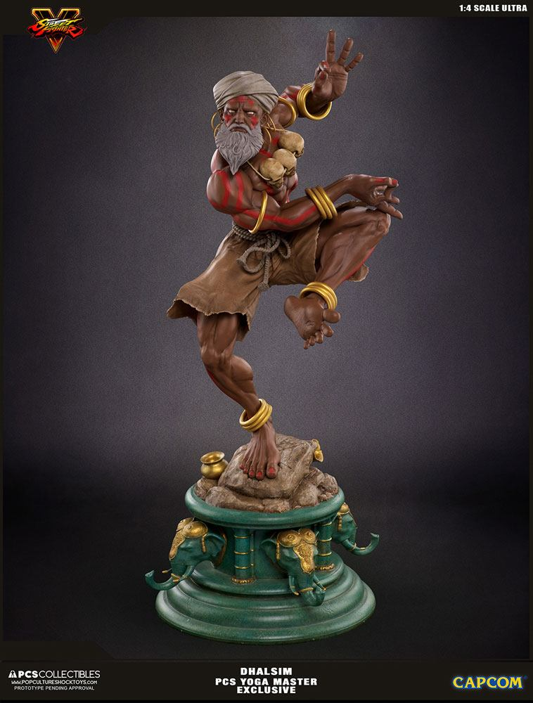 Street Fighter V Ultra Statue 1/4 Dhalsim Yoga Master Exclusive 62 cm