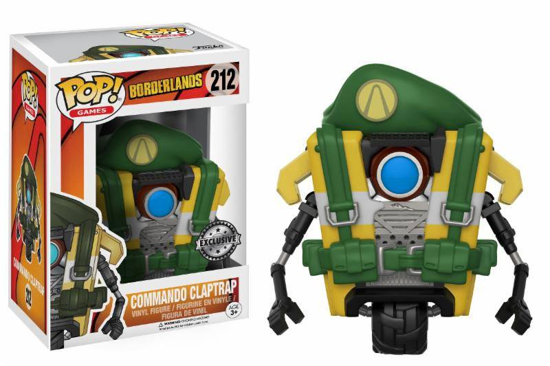 Borderlands POP! Games Vinyl Figure Commando Claptrap 9 cm