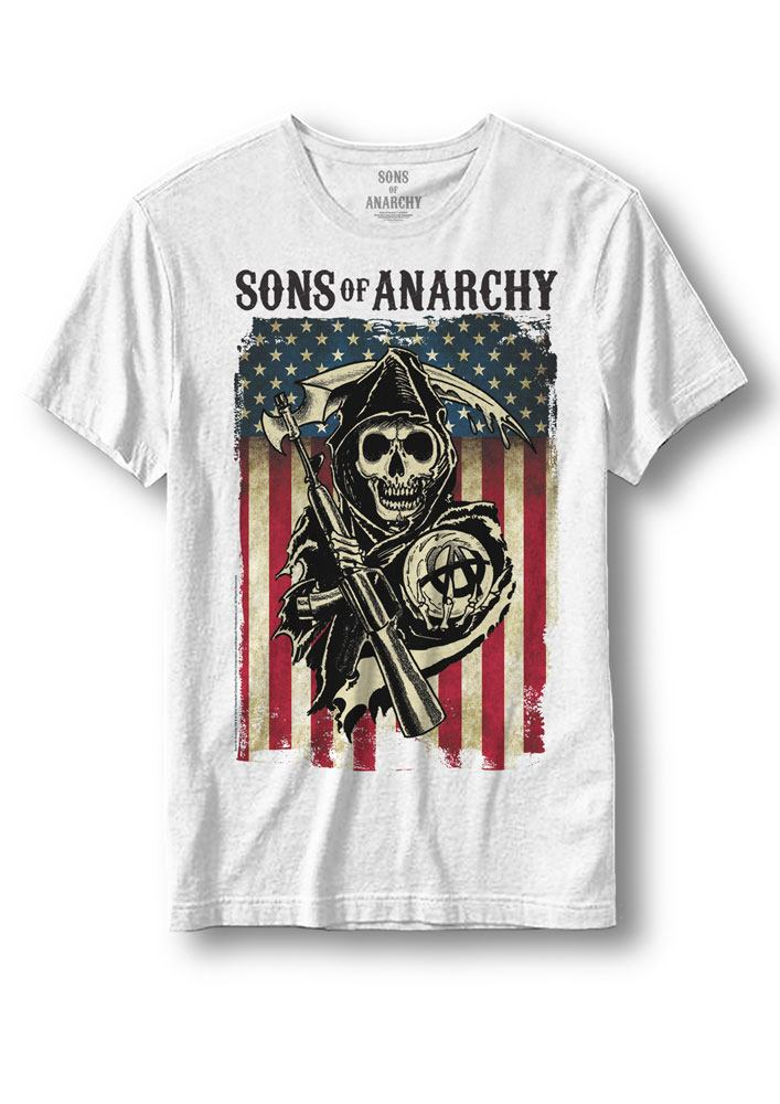 Sons of Anarchy T-Shirt Reaper Flag Size L