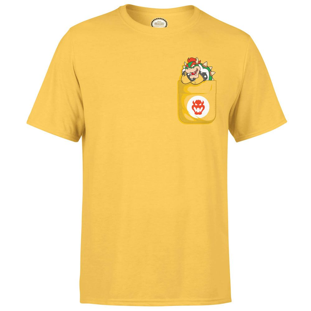 Nintendo T-Shirt Bowser Pocket Size S