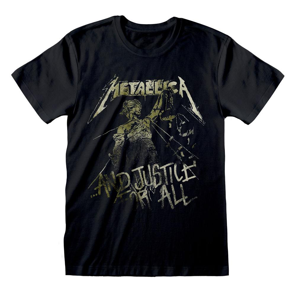 Metallica T-Shirt Black Justice Vintage Size L