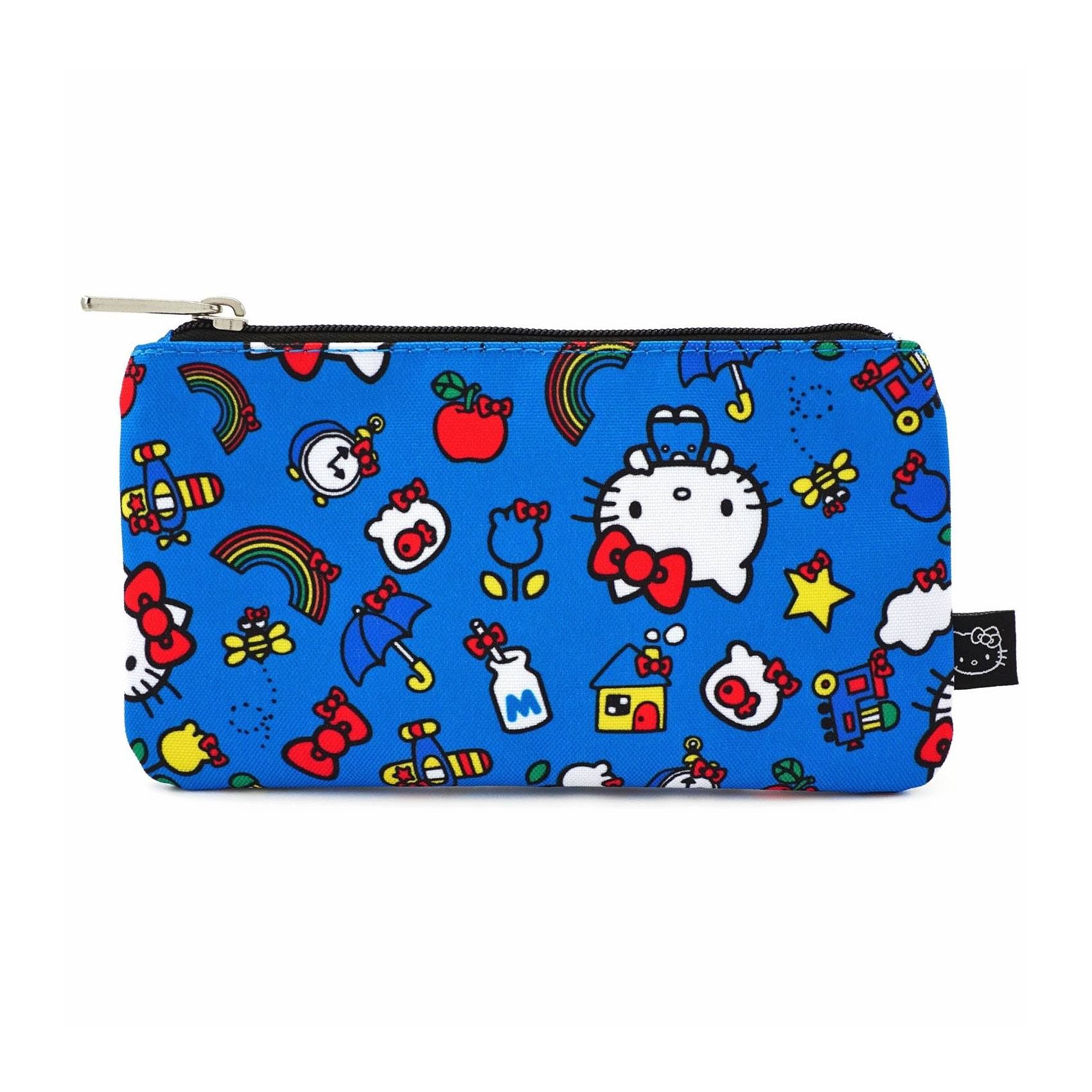 Hello Kitty by Loungefly Coin/Cosmetic Bag Kitty & Rainbow Pattern