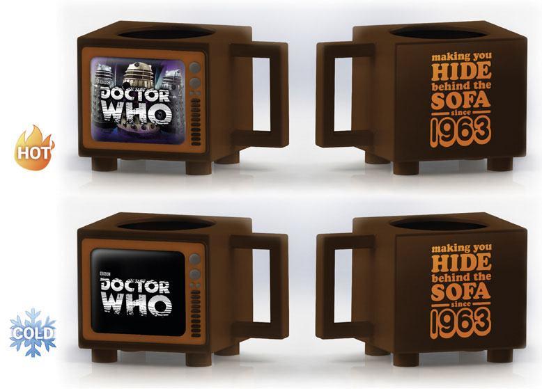Doctor Who Heat Change Mug Hide Behind the Sofa