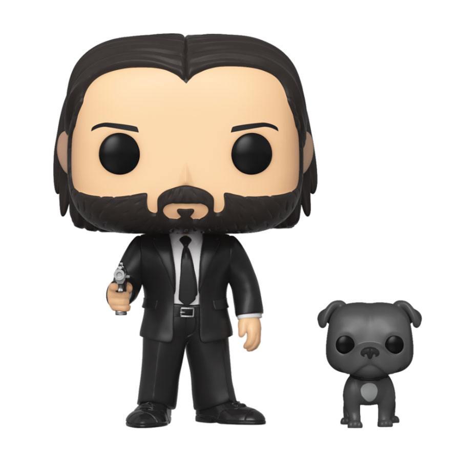 John Wick POP! Movies Vinyl Figure John Wick in Black Suit with Dog 9 cm
