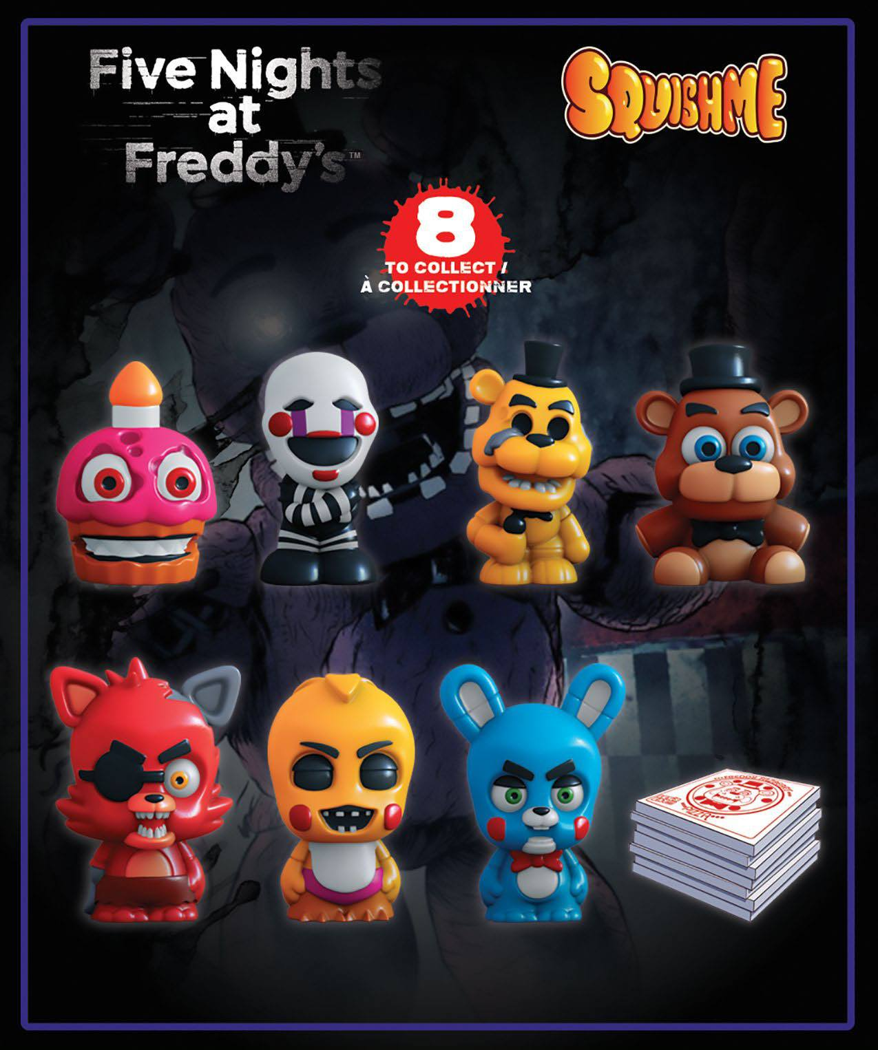 Five Nights at Freddy's Squishme Anti-Stress Figures 6 cm Display (24)