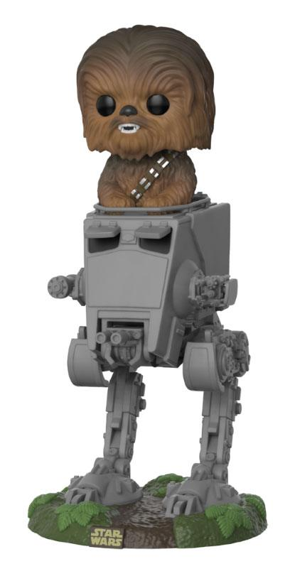 Star Wars POP! Deluxe Vinyl Figure Chewbacca with AT-ST 10 cm
