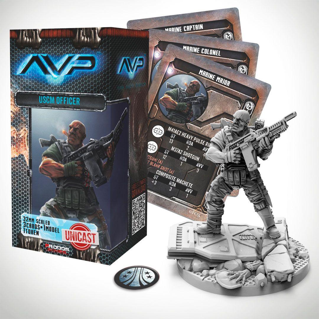 AvP Tabletop Game The Hunt Begins Expansion Pack USCM Officer