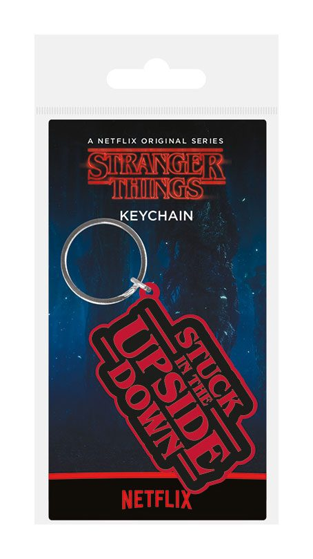 Stranger Things Rubber Keychain Stuck In The Upside Down 6 cm