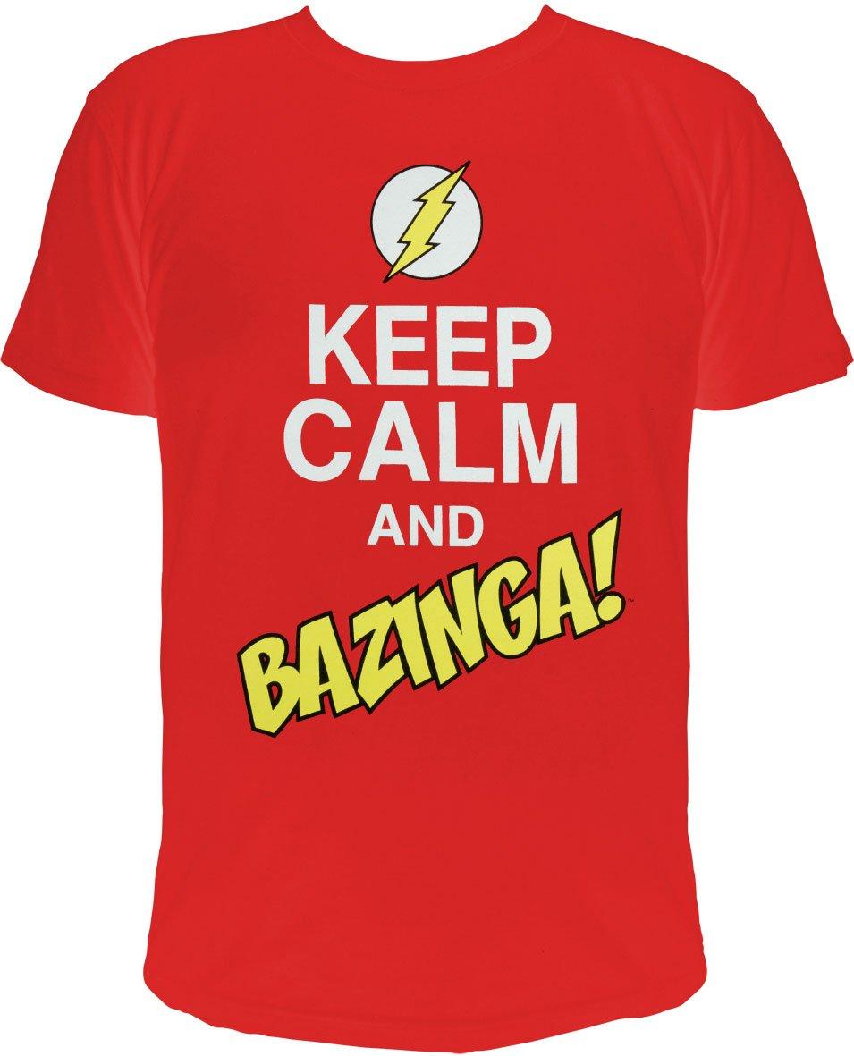 The Big Bang Theory T-Shirt Keep Calm and Bazinga  Size XXL