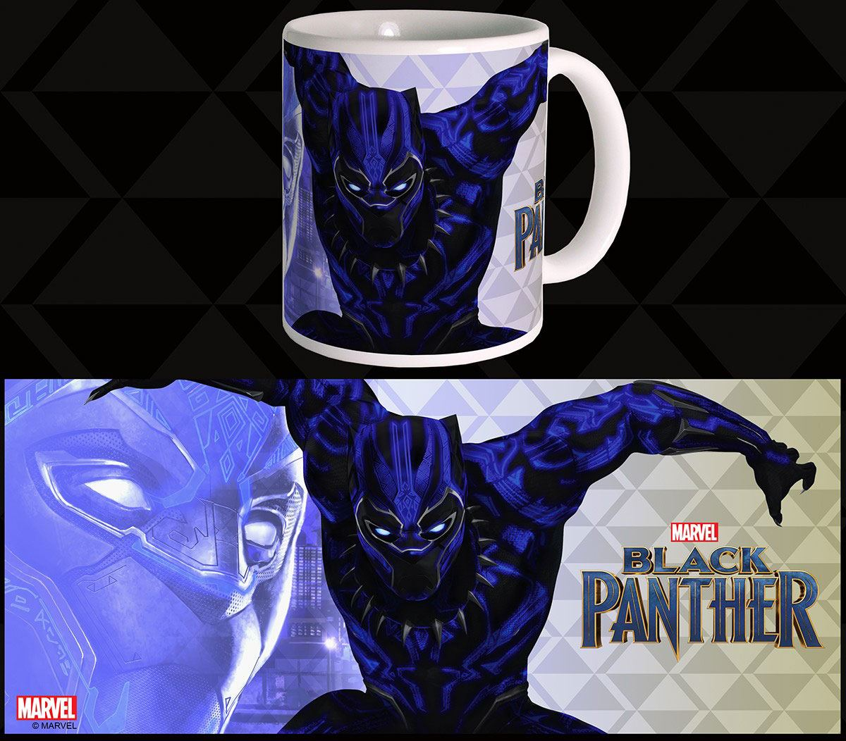 Black Panther Mug War Suit