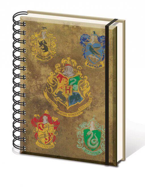 Harry Potter Notebook A5 Hogwart's Crests
