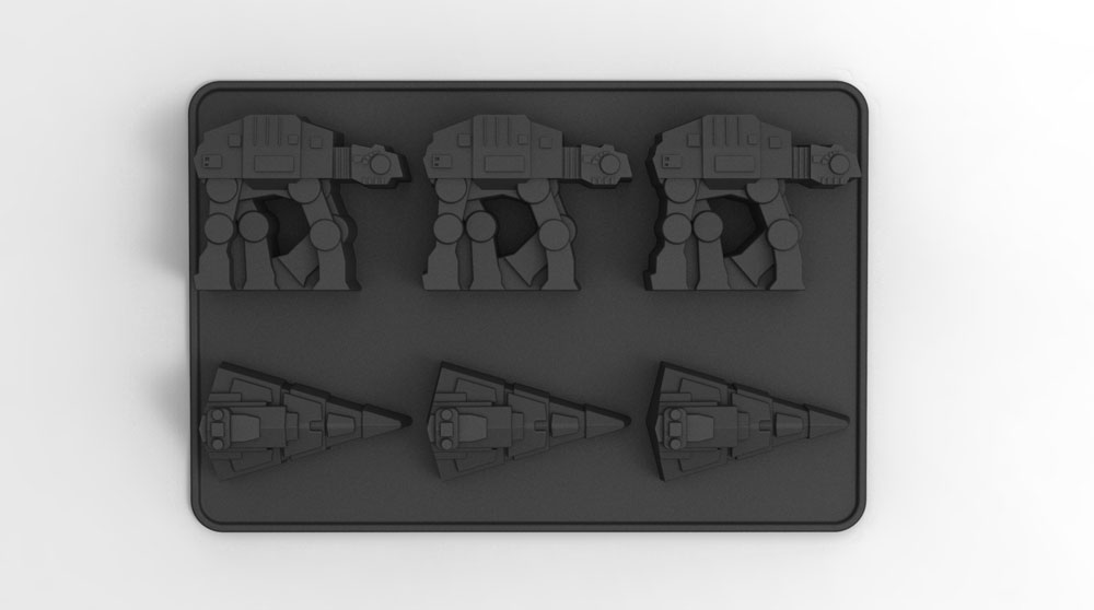 Star Wars Ice Cube Tray AT-AT & Destroyer