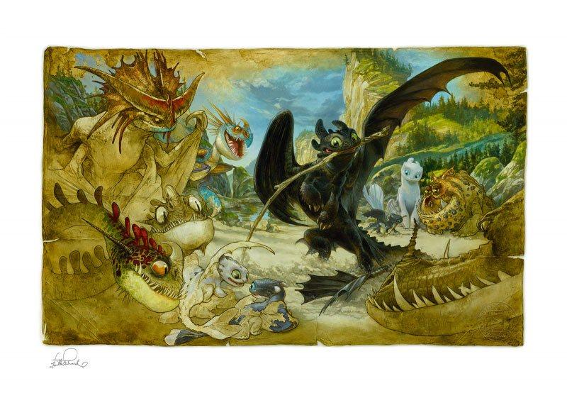 How to Train Your Dragon Art Print Ecto-1 46 x 61 cm - unframed