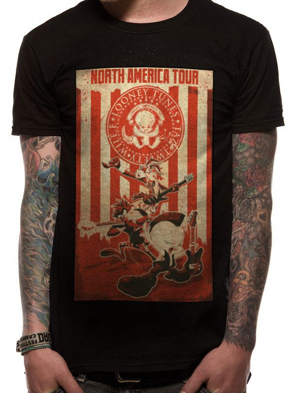 Looney Tunes T-Shirt Tour Poster Size M