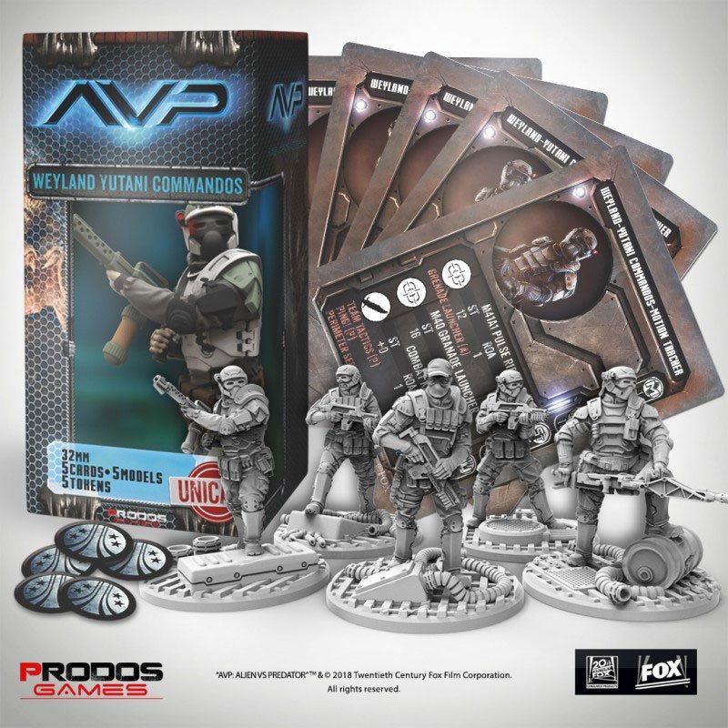 AvP Tabletop Game The Hunt Begins Expansion Weyland Yutani Commandos UniCast Edition