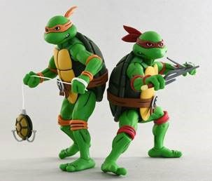 Teenage Mutant Ninja Turtles Action Figure 2-Pack Michelangelo & Raphael 18 cm
