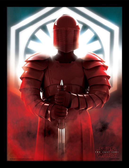 Star Wars Episode VIII Framed Poster Elite Guard Defend 45 x 33 cm