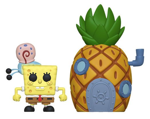 SpongeBob SquarePants POP! Town Vinyl Figure SpongeBob & Pineapple 9 cm