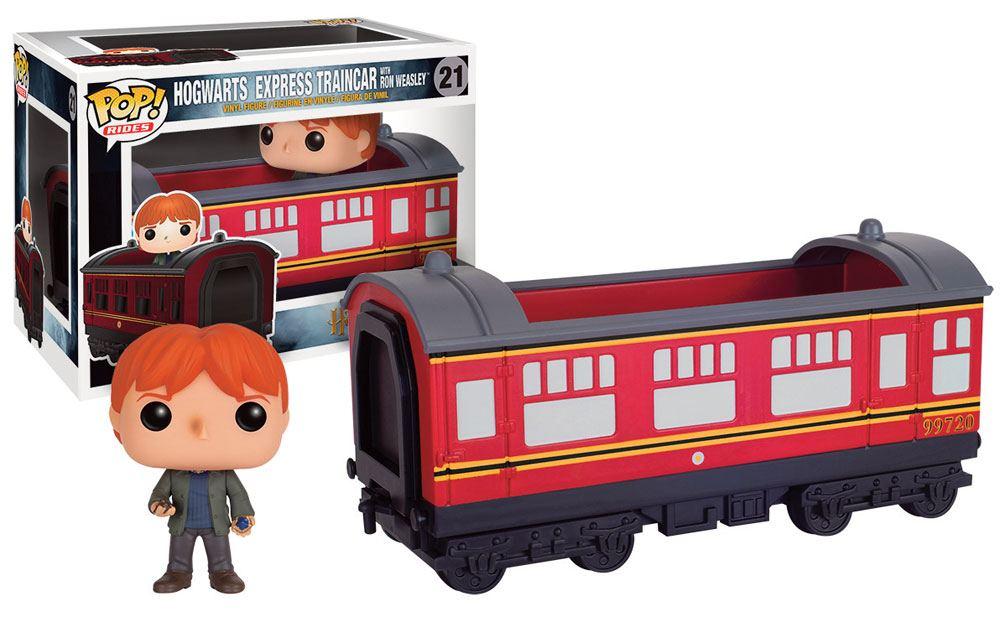 Harry Potter POP! Rides Vinyl Vehicle with Figure Hogwarts Express Traincar 2 & Ron 12 cm