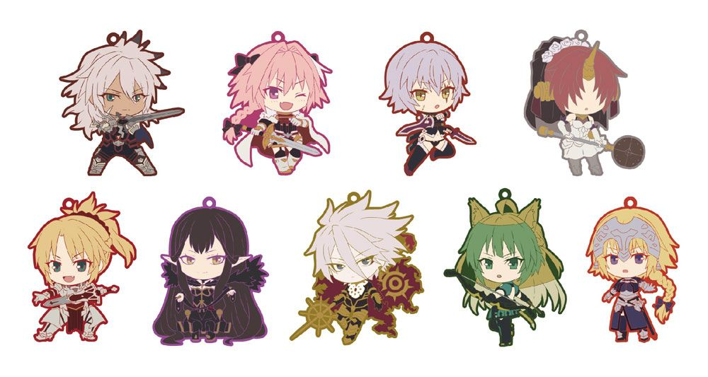 Fate/Apocrypha Rubber Charms 7 cm Assortment Niitengomu! (10)