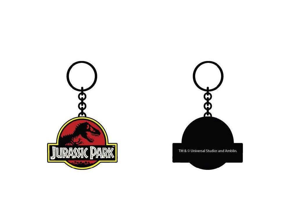 Jurassic Park Metal Keychain Logo