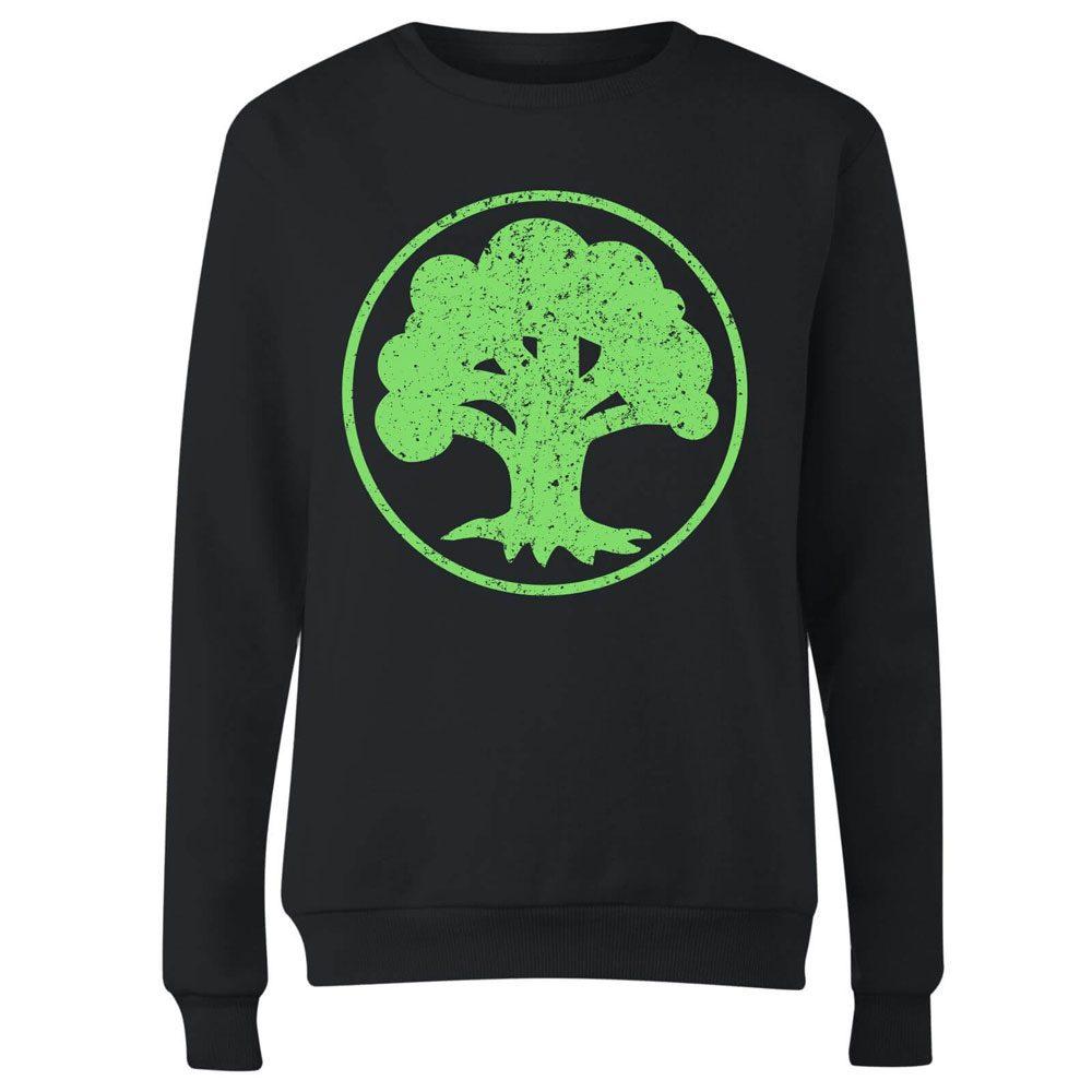Magic the Gathering Ladies Sweatshirt Mana Green Size XL