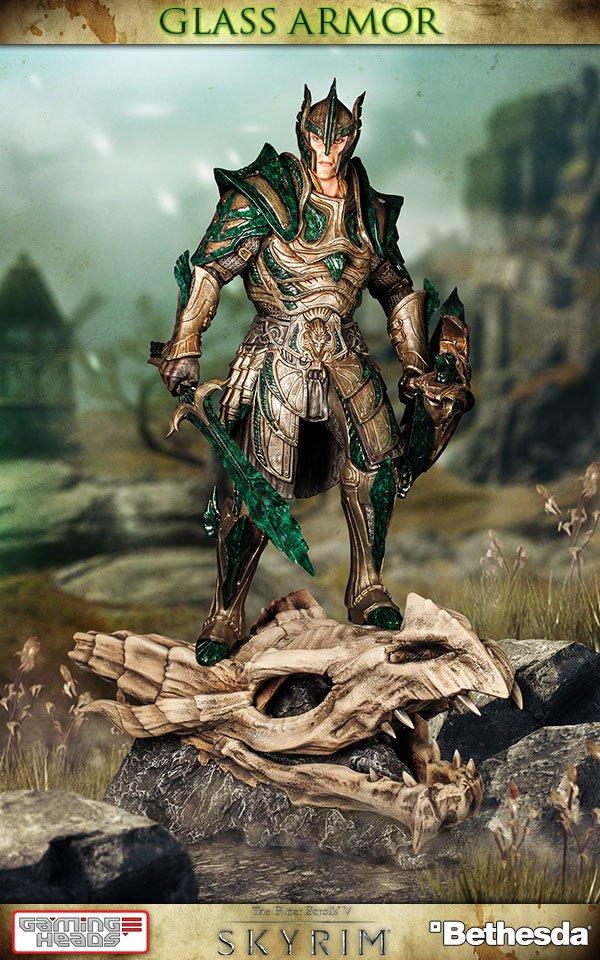 The Elder Scrolls V Skyrim Statue 1/6 Glass Armor 40 cm