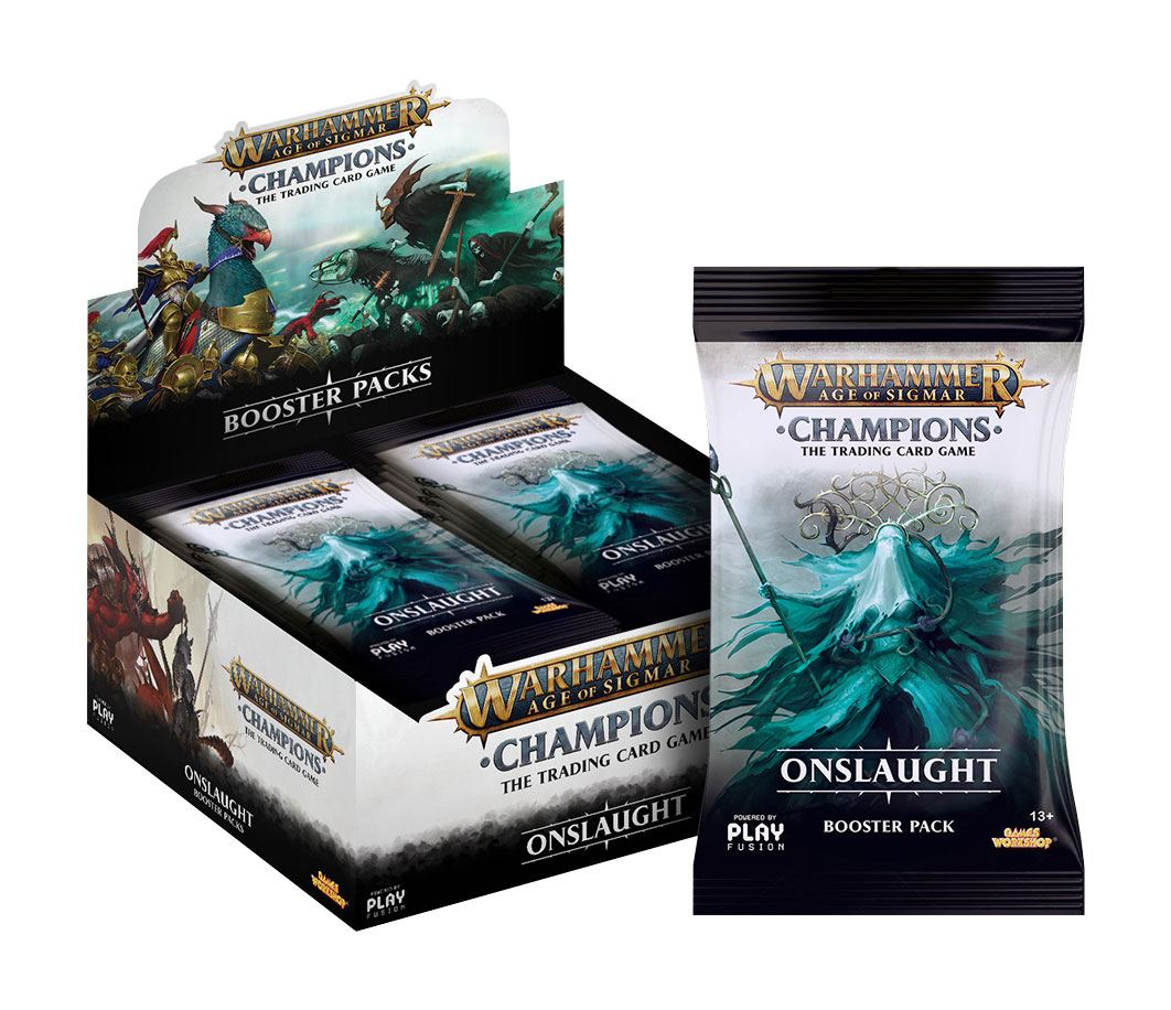 Warhammer Age of Sigmar: Champions Wave 2: Onslaught Booster Display (24) english