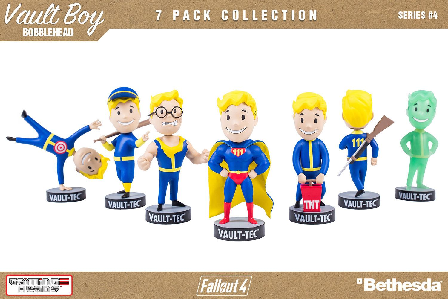 Fallout 4 Bobble-Heads 13 cm Vault-Tec Vault Boy 111 Series 4 Set (28)